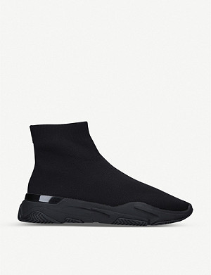 MALLET Sock Runner tonal stretch-knit mid-top trainers