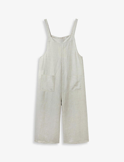 THE WHITE COMPANY: Sleeveless relaxed linen jumpsuit