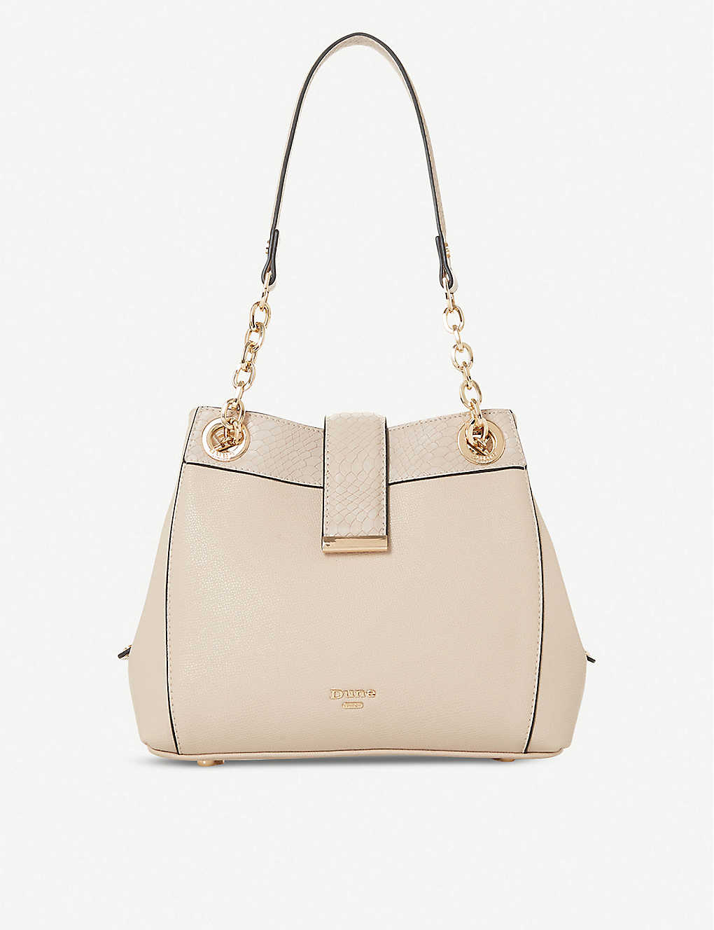 DUNE: Dilear faux-leather chain shoulder bag