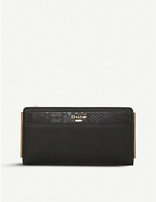 DUNE: Kantelle faux-leather purse with removable cardholder