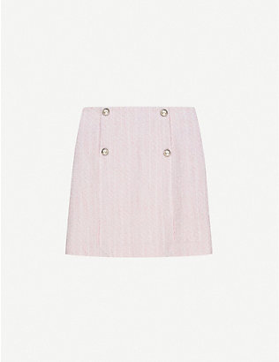 CLAUDIE PIERLOT: Sarafina tweed mini skirt