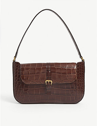 BY FAR: Miranda mini leather shoulder bag