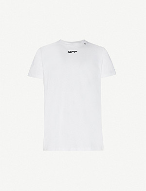 OFF-WHITE C/O VIRGIL ABLOH Caravaggio Arrows cotton-jersey slim T-shirt