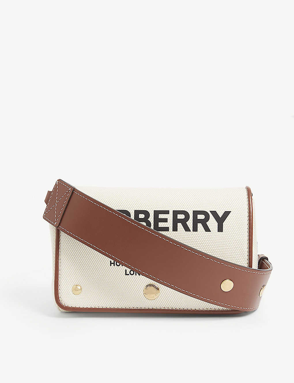 BURBERRY: Hackberry medium canvas shoulder bag