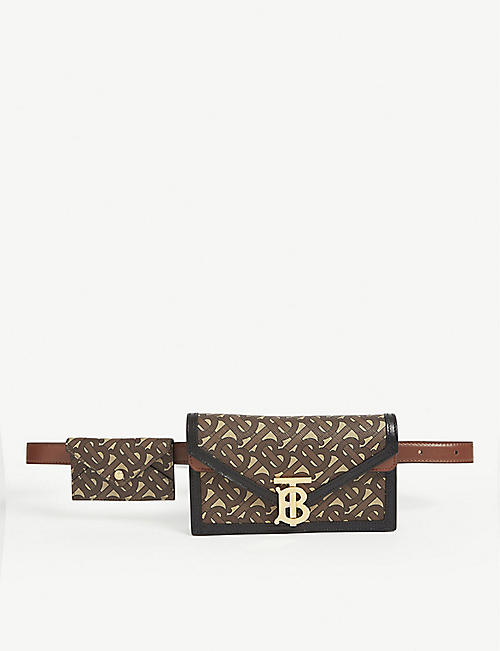 BURBERRY: TB monogram envelope belt bag