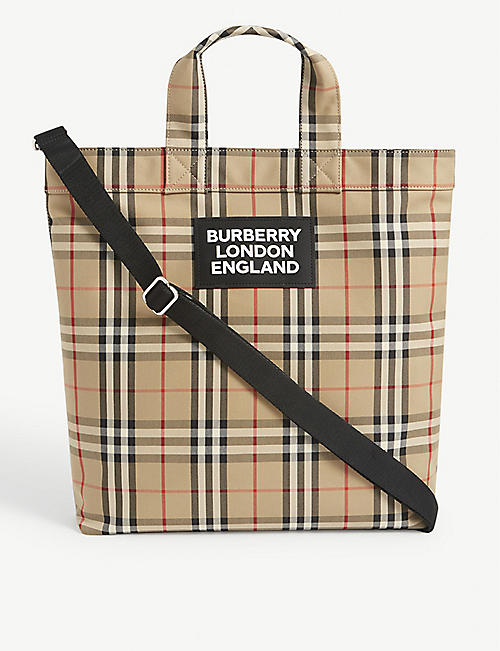 BURBERRY Artie check-print tote bag