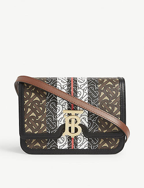 BURBERRY TB monogram E-canvas small cross-body bag