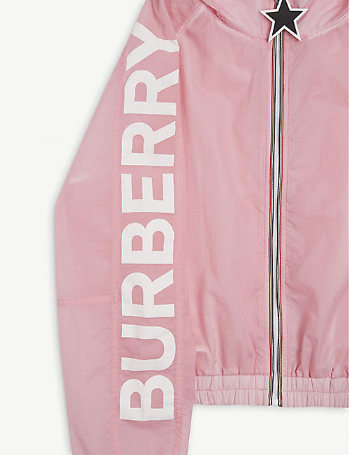 BURBERRY Thorley logo nylon jacket 3-12 years