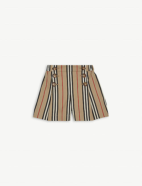 BURBERRY: Tamara checked cotton shorts 3-14 years