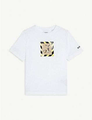 BURBERRY: Deer-print cotton-jersey T-shirt 3-14 years
