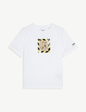 BURBERRY Deer-print cotton-jersey T-shirt 3-14 years