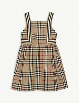 BURBERRY: Astrid checked cotton dress 3-14 years