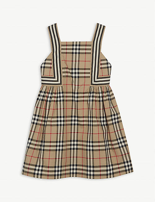 BURBERRY Astrid checked cotton dress 3-14 years