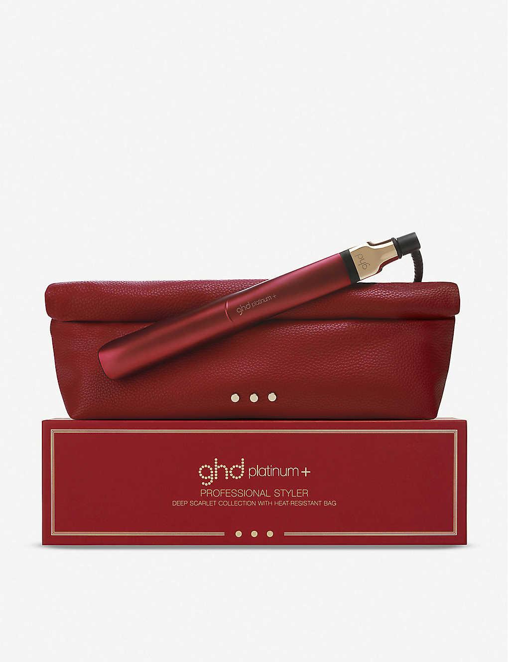 ghd Platinum+ limited-edition styler - Deep Scarlet