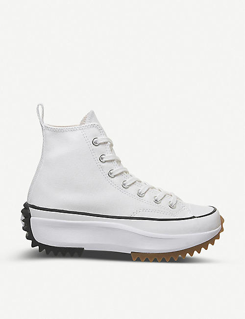 CONVERSE: Run Star Hike high-top canvas trainers