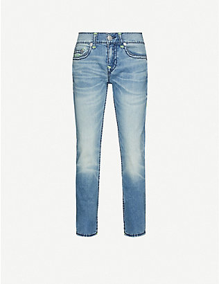TRUE RELIGION: Rocco No Flap skinny stretch-denim jeans