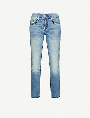 TRUE RELIGION Rocco No Flap skinny stretch-denim jeans