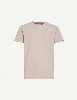 TRUE RELIGION: Logo-embroidered organic cotton-jersey T-shirt