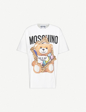 MOSCHINO Graphic-print cotton-jersey T-shirt
