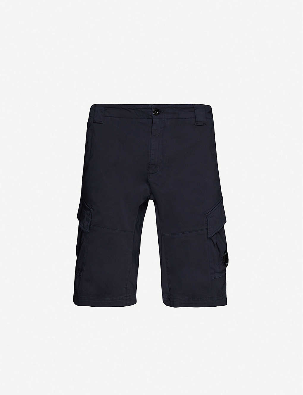 CP COMPANY: Logo-patch stretch-cotton shorts