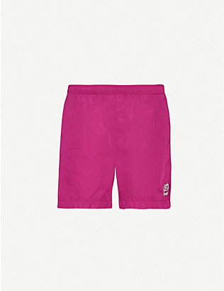 CP COMPANY: Logo-detail swim shorts