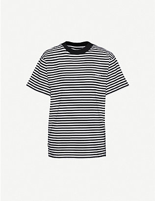 OBEY: Striped recycled cotton-blend jersey T-shirt
