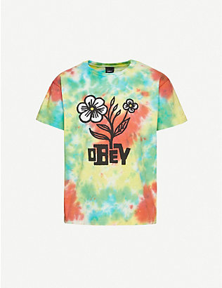 OBEY: Bloom cotton-jersey T-shirt