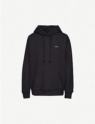 OBEY: Ideals recycled cotton-blend jersey hoody