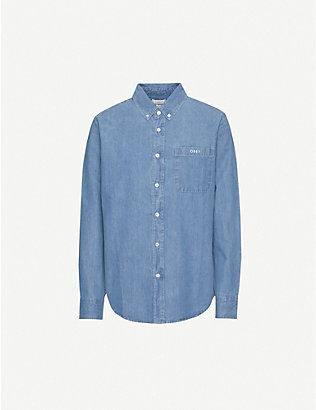 OBEY: Keble organic denim shirt