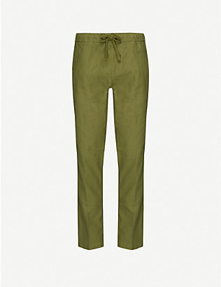 OBEY: Traveller mid-rise organic cotton jogging bottoms