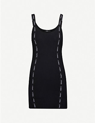 OBEY: Pedal logo-trimmed stretch-jersey mini dress