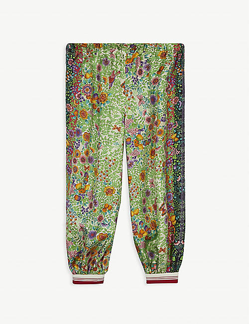 GUCCI: Liberty floral-print silk trousers 4-12 years