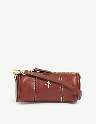 MANU ATELIER: Cylinder micro leather shoulder bag
