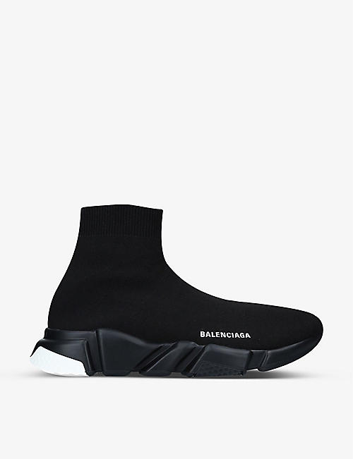 BALENCIAGA: Speed slip-on knitted mid-top trainers
