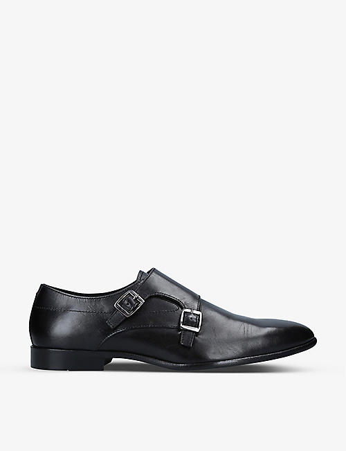 KG KURT GEIGER: Amble leather double monk strap shoes