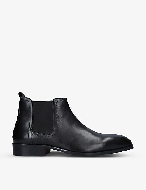 KG KURT GEIGER: Flixton leather Chelsea boots