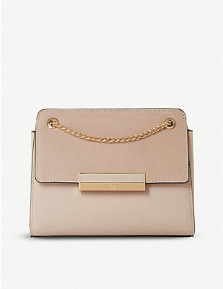 DUNE: Elveena faux-leather shoulder bag