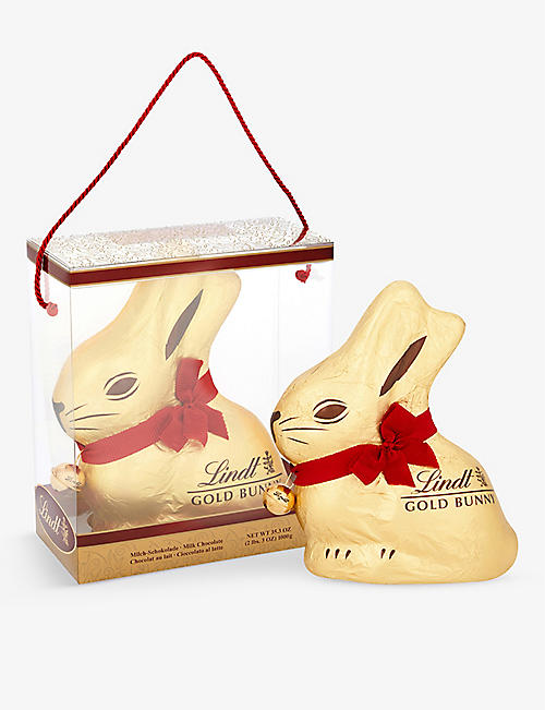 LINDT: Milk chocolate gold bunny 1kg