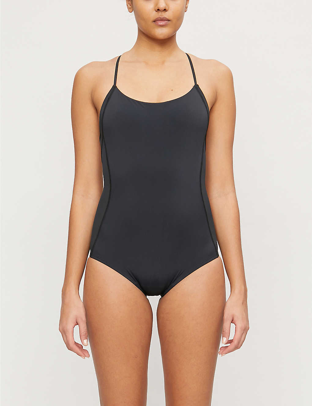 THINX: Semi-sheer panel stretch-woven leotard