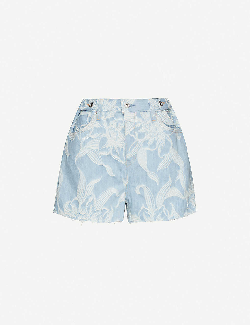LEVIS MADE & CRAFTED: Made & Crafted Botanical print denim shorts