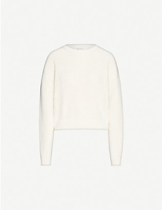REFORMATION: Winnie relaxed organic cotton-knit jumper