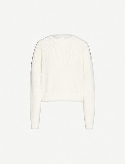REFORMATION Winnie relaxed organic cotton-knit jumper