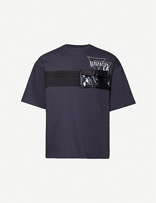 EMPORIO ARMANI: Pocket-strap relaxed-fit cotton-jersey T-shirt