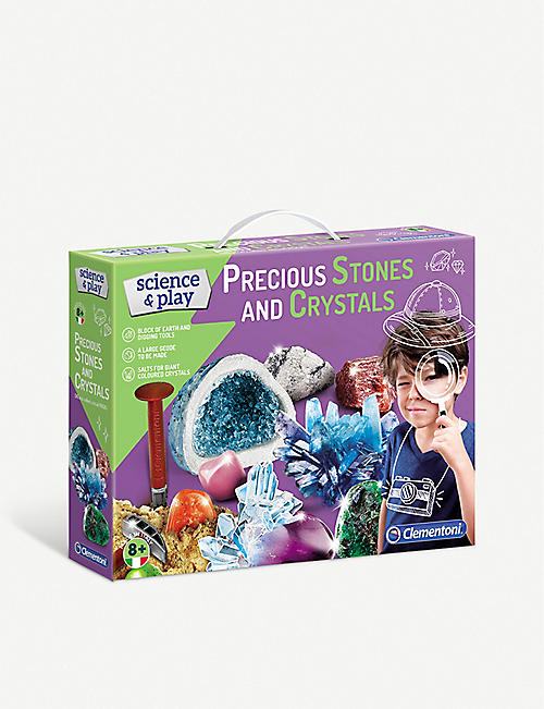 SCIENCE & PLAY: Clementoni Science & Play Precious Stones and Crystals experiment kit
