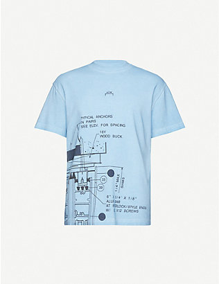 A-COLD-WALL: Blueprint-print cotton-jersey T-shirt
