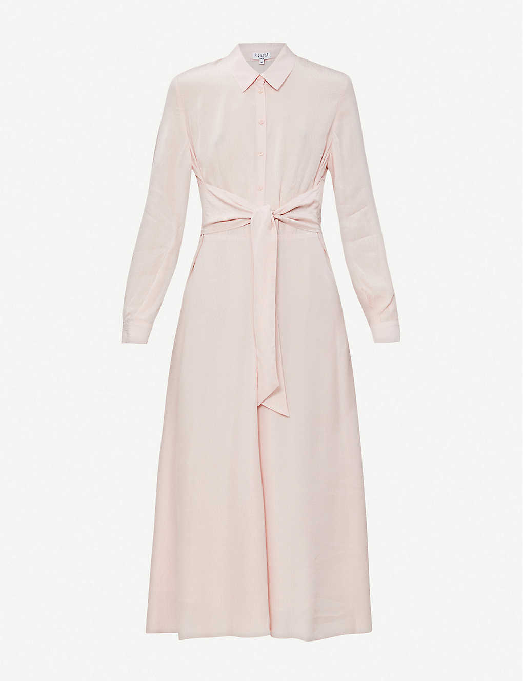 CLAUDIE PIERLOT: Belted woven midi dress