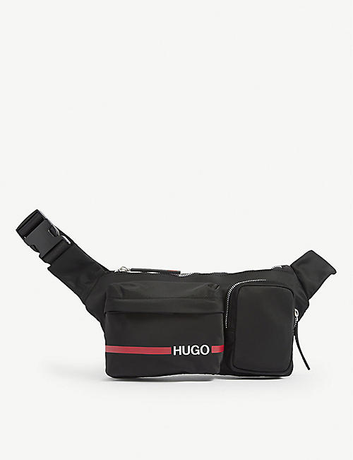 HUGO: Branded nylon belt bag