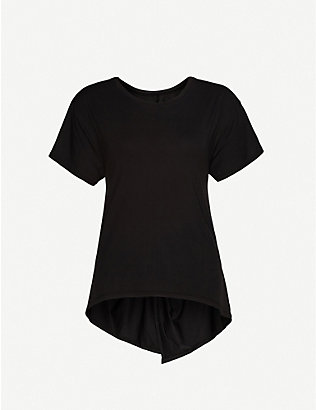 MICHI: Gemini reversible stretch-jersey top