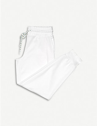 MICHI: Interstellar mid-rise cotton-blend jogging bottoms