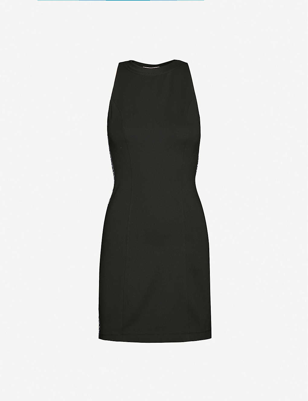 CALVIN KLEIN: Logo-tape stretch-jersey mini dress